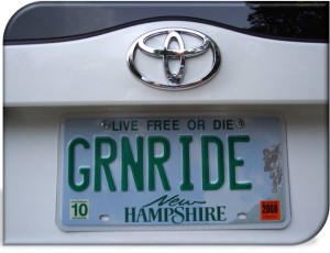 Plates on Prius Green Rides USA